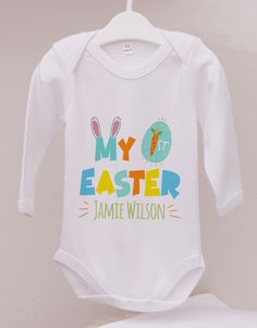 Personalised First Easter Gender Neutral Onesie Pink Happy Birthday, Happy Birthday Candles, Happy Birthday Balloons, Lucky To Have You, Owl Always Love You, 21 Balloons, Elizabeth Arden Red Door, Easter Flowers, Cool Poses