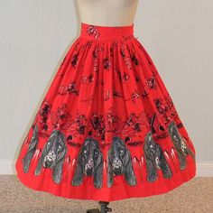 HOLD Vintage 1950s 50s Circle Skirt Flannel by daisyandstella
