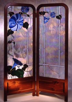 Morning glory stained glass | Technique: William Poulson: Piecing Stained Glass Together - Technique ...