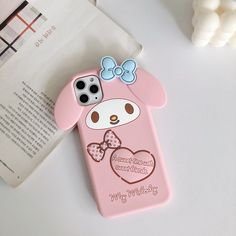 Iphone Cases Cute, Pink Phone Cases, Iphone Case Covers, White Iphone, Pink Iphone, Iphone 11, Dark Phone Wallpapers, Kawaii Phone Case, Bridal Nail Art