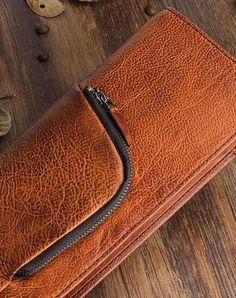 Handmade men long leather wallet clutch men bifold vintage gray brown long wallet for him Mens Long Leather Wallet, Leather Clutch, Leather Men, Key Wallet, Large Wallet, Clutch Wallet, Handmade Leather, Vintage Leather, Leather Notebook