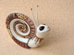 porcelain ceramics snail