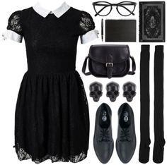 goth fashion looks Witch Fashion, Dark Fashion, Gothic Fashion, Fashion Looks, Bohemian Fashion, Gothic Outfits, Grunge Outfits, Fashion Outfits, Womens Fashion