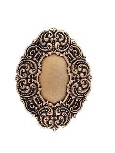 Ox Brass Large Oval Cameo Setting Stamping by SteampunkSupplyStore, $3.25