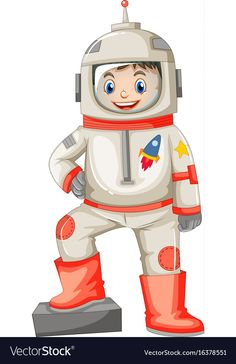 Astronaut in spacesuit on white background vector image on Preschool Jobs, Preschool Learning Activities, Classroom Charts, Classroom Decor, Art For Kids, Crafts For Kids, Up Theme, Baby Clip Art, Community Helpers