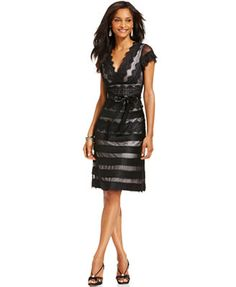 Mother of the Bride - JS Collections Cap-Sleeve Lace Dress - Macy's