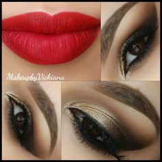 Bronze Look| This was my prom makeup look exactly! Went amazing with my red dress as well