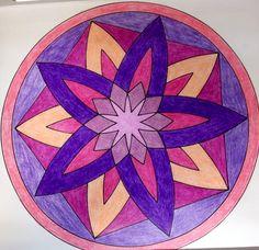 Mandala 13. Mi paleta de colores favorita.