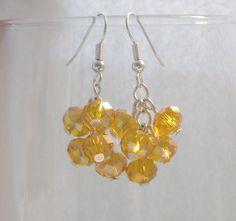 Orange Berry Crystal Earrings from Cloudberry Cat by DaWanda.com
