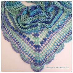 Made of best quality multicolor very soft yarn. You can use it in every season. Can be used as scarf or shawl. it will compleate your style. It can be a good gift too. Its shape is triangle;  78 / 200cm width  39 / 100cm long  For other shawls you can check;  https://www.etsy.com/shop/QueensAccessories/search?search_query=Shawl&order=date_desc&view_type=gallery&ref=shop_search
