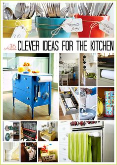 Get your smart on- check out these clever ideas for Kitchen Organization and Cleaning Tips at  the36thavenue.com