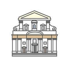 Conoscete Santa Maria in Vallicella? La #chiesa custodisce un capolavoro #barocco: la volta dipinta da Pietro da Cortona ------------------------------------- Do you know Saint Mary in Vallicella? This church contains a baroque masterpiece: the wonderful ceiling painted by Pietro da Cortona. Hi-Storia coming soon! #Italy #flat #design #cultura #arte #art