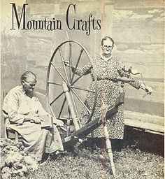 1965 Ad Mountain Crafts Spinning Wheel Tennessee Vacation