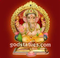 Lord Ganesha @ www.godstatues.com  #godstatues #art #handicraft #hindu