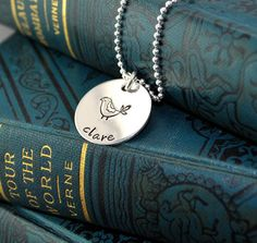Bridesmaids gift - sterling silver hand stamped Necklace  $28.00 perfect for Clara!!