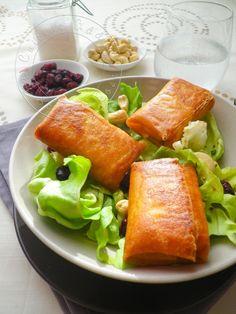 Ma Salade de Bri-Brick {Croustillants de Brie en Feuille de brick} - Cuisine Addict