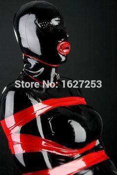 100%純粋な ラテックス ゴム フード ハニカム目ラテックス マスク で赤い コンドーム カスタマイズ (マスク のみ)