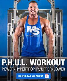4 Day Split Workout, Push Pull Workout Routine, Push Workout, Workout Splits, Full Body Gym Workout, Weekly Workout Routines, Aerobics Workout, Exercise Routines, Workout Exercises