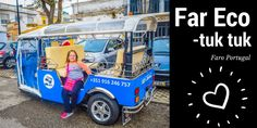 Far Eco Tuk Tuk drives us around Faro Portugal