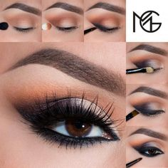 Smokey eye makeup for fall. #makeup #tutorial #womentriangle