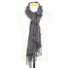 Fringed Crinkle Scarf from YesStyle.com