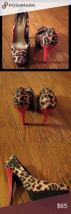 Heels Leopard heels RACHEL Rachel Roy Shoes Heels