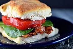 A BLT Sandwich is a classic sandwich recipe. Bacon, lettuce, and tomato with a smear of mayo. But put it on a buttermilk biscuit and you've got a whole new twist on this iconic sandwich.