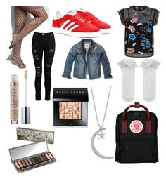 """""""Untitled #8"""" by crazy-wiltedlily on Polyvore featuring Dorothy Perkins, Rare London, Hollister Co., Markus Lupfer, adidas Originals, Monsoon, Urban Decay, Bobbi Brown Cosmetics and Fjällräven"""