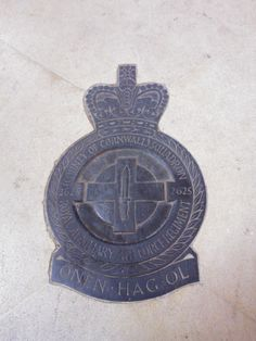 2625 (County of Cornwall) Sqn R.Aux.A.F Regt. Set into the floor of RAF St Clement Danes