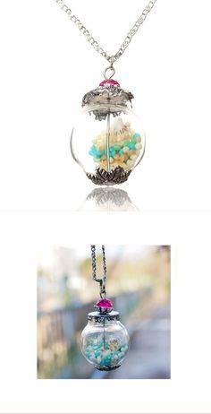 Necklaces diamond pendants wish glass bottle starfish round pendant necklace women jewelry #gold #necklaces #pendants #singapore #jewelry #making #pendants #charms #jewelry #pendants #supplies #letter #c #necklace #pendants