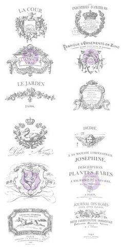 vintage labels vintage french ephemera label digital black and white pinterest. Black Bedroom Furniture Sets. Home Design Ideas