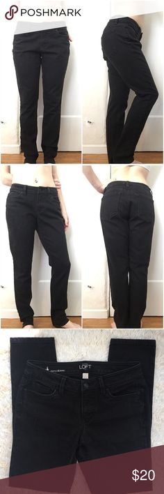 "Ann Taylor Loft Black Curvy Skinny Jeans *Size: 4 *67% cotton, 31% polyester, 2% spandex  Approx. Measurements:  Waist: 29"" Inseam: 29.5"" Outseam: 38"" Leg opening: 5.75"" across Rise: 8""  Tags: Ann Taylor Loft Black pants jeans size 4 curvy skinny summer spring great condition Ann Taylor Jeans Skinny"