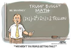 RJ Matson - Roll Call - Trump Budget Math - English - Trump Budget Math, Trump, Budget, Math, 2, Two, Trillion, Dollar, Accounting, Error, Director, Mulvaney, OMB, Federal, Office, Management