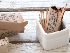 vintage swedish match packets | cottage farm