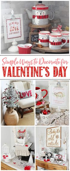 7 Simple Ways to Decorate for Valentine's Day. Inexpensive and pretty Valentine's Day decor that you can do in no time! / 7 Simple Ways to Decorate for Valentine's Day. Inexpensive and pretty Valentine's Day decor that you can do in no time! Valentines Day History, Valentines Day Food, Valentines Day Decorations, Valentine Day Love, Valentine Day Crafts, Valentine Ideas, Valentine's Day Quotes, Food Stamps, Romantic Dinners