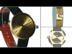 The Drumline watch by Newgate Watches. A minimalist gold brass watch wit...
