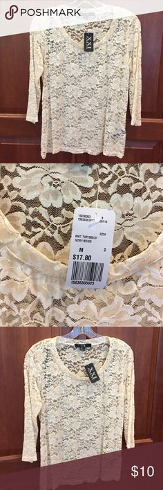 Brand New F21 Cream Lace Top With Tags Brand new with tags, this cream lace blouse from Forever 21 comes in a medium. No bargaining or trade. Forever 21 Tops Blouses