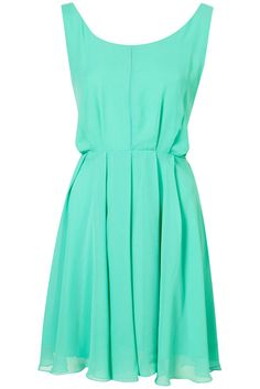 Tie Back Pleated Dress by Rare. I would need to make this with a different color due to my complexion. Pretty & simple.