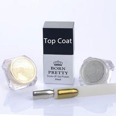 Buy 3Pcs/set Shinning Mirror Nail Glitter Powders & 10ml Top Coat at JacLauren.com