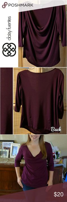 Potent Purple Blouse This Daisy Fuentes Potent Purple Top is sophisticated and comfortable. Sleeves are 3/4 in length. Daisy Fuentes Tops Blouses
