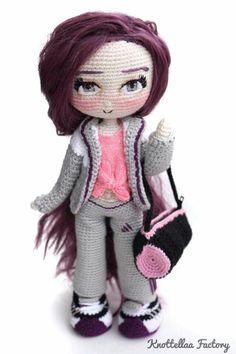 Diy Crochet, Crochet Dolls, Amigurumi Doll, Doll Toys, Yorkie, Fiber Art, Smurfs, Needlework, Knitting Patterns