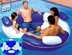 lounge floater/inflatable sofa island/beach item