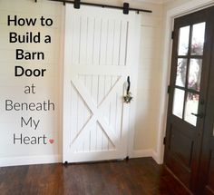 How to build a barn door - a DIY guide