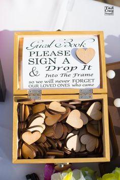 Perfect Idea for a wedding guest book! Tad Craig Photography. #weddings #weddinginspiration #weddingideas