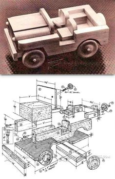 Wooden Toy Jeep Plans - Wooden Toy Plans and Projects | WoodArchivist.com #woodworkingprojects