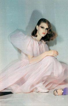 Pastel pink tulle dress. http://www.dazeddigital.com/fashion/article/17033/1/overdosing-on-pink
