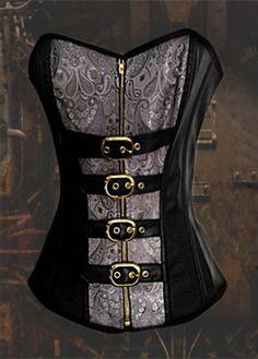 Steampunk corset gothic corset vamp corset sexy by bellydanceon