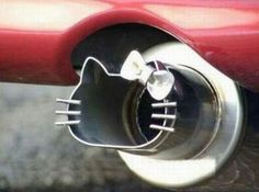 Hello Kitty car muffler