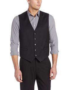 Tommy Hilfiger Men's Trim Fit Solid Vest,  Black