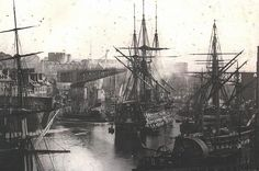French Naval Port of Brest ca 1850-1880 - One of the Oldest Surviving Photographs of the French Fleet